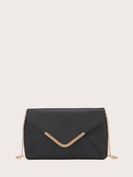 Metal Edge Chain Clutch Bag