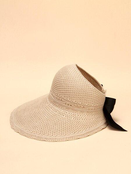 Bow Knot Decor Sun Protection Hat