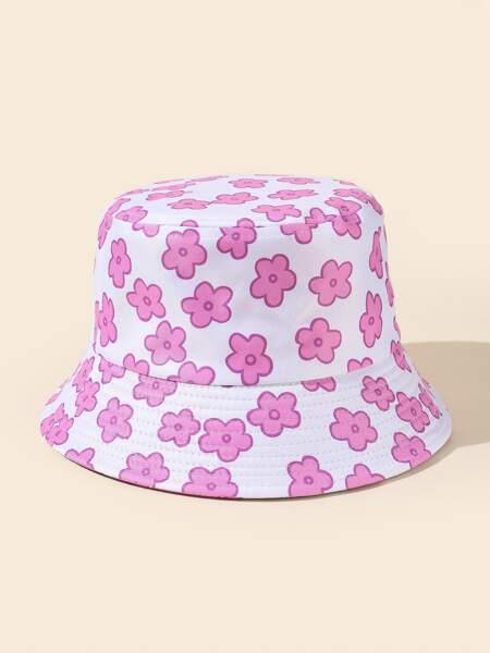 Flower Print Bucket Hat