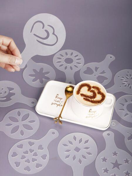 12pcs Coffee Latte Mold Set