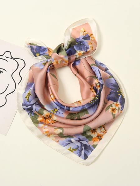 Flower Print Scarf