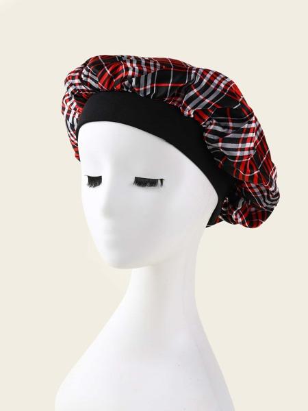 Plaid Hair Bonnet