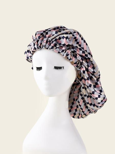 Geometric Pattern Hair Bonnet