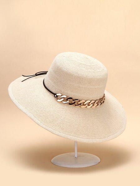 Chain Decor Sun Hat