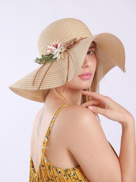 Flower Decor Sun Hat