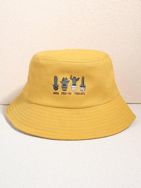 Plant Print Bucket Hat