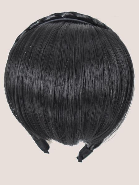 Clip In Front Bangs With Hair Hoop