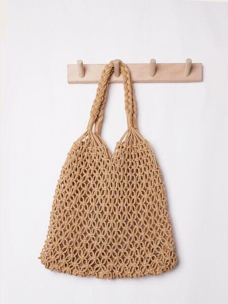 Minimalist Straw Tote Bag