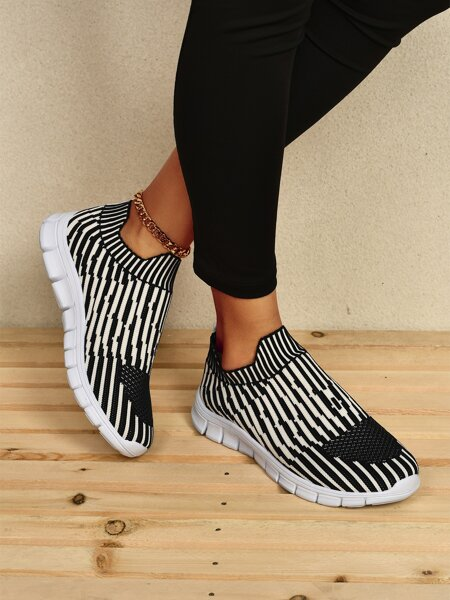 Allover Graphic Knit Running Shoes