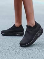 Minimalist Knit Chunky Running Shoes