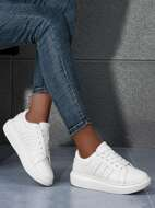 Studded Decor Lace-up Front Skate Shoes