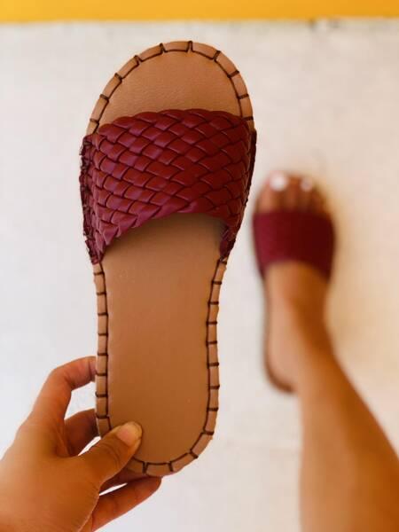 Minimalist Braided Design Slide Sandals