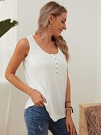 Pressed Button Front Tank Top