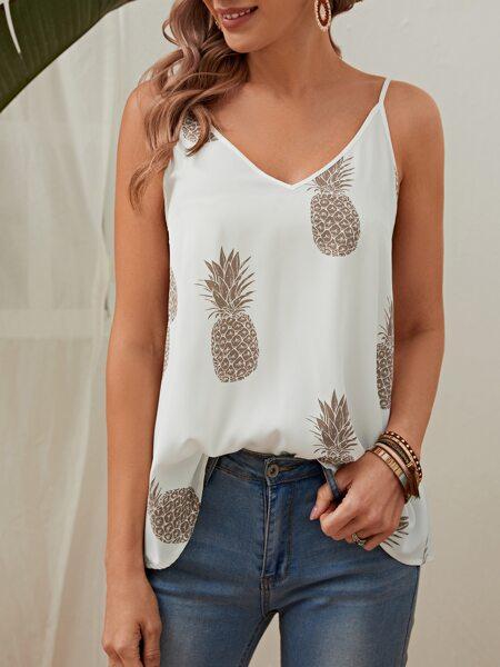 Pineapple Print Cami Top