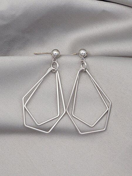 Hollow Geometric Earrings