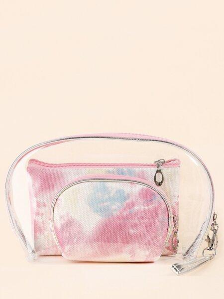 3pcs Tie Dye Makeup Bag