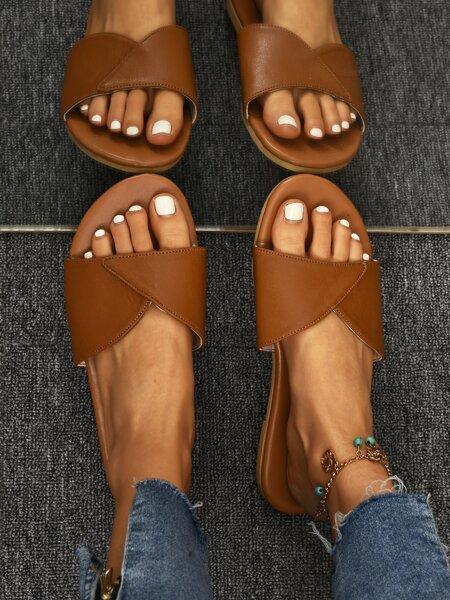 Minimalist Cut Out Slide Sandals