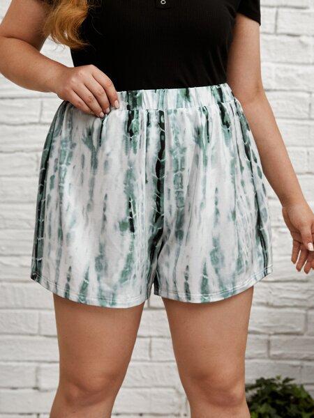 Plus Tie Dye Shorts