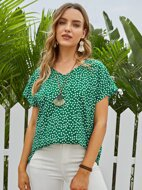Ditsy Floral Batwing Sleeve Top