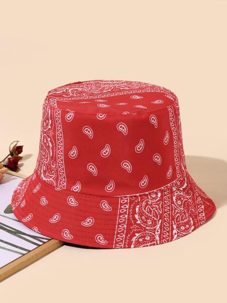 Paisley Print Reversible Bucket Hat