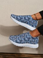 Allover Graphic Running Shoes