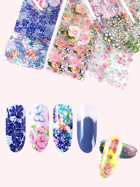 10sheets Floral Nail Art Sticker