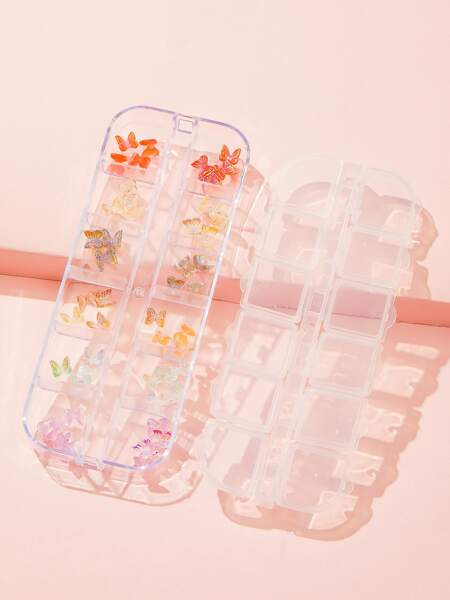 1box Butterfly Shaped Nail Art Decoration