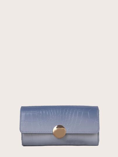 Faux Pearl Handle Ombre Baguette Bag