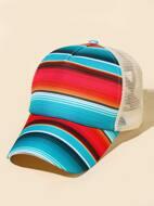 Striped Mesh Baseball Cap