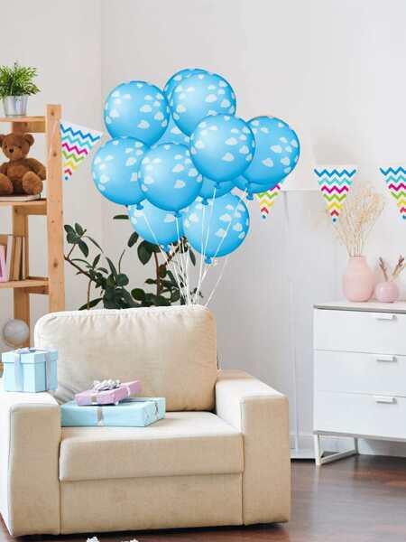 10pcs Cloud Print Balloon