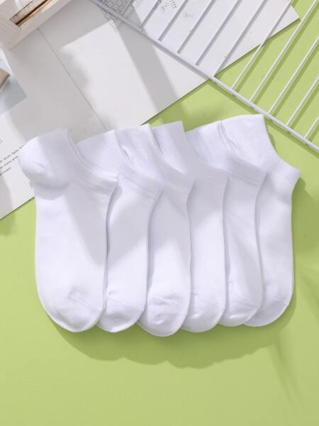 6pairs Plain Ankle Socks