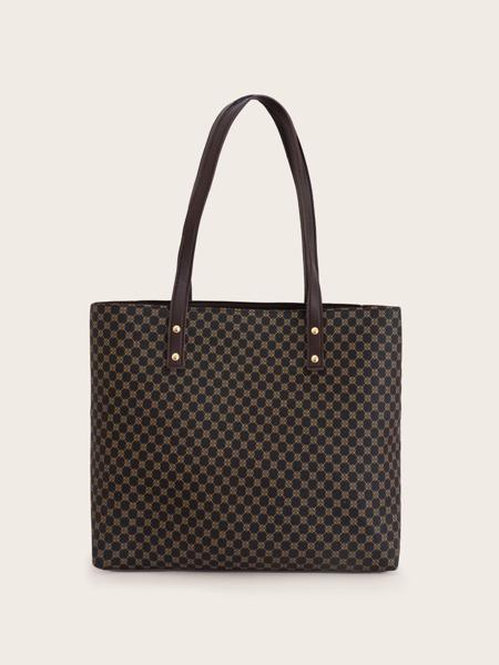 Geometric Graphic Tote Bag