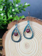 Hollow Out Water Drop Earrings