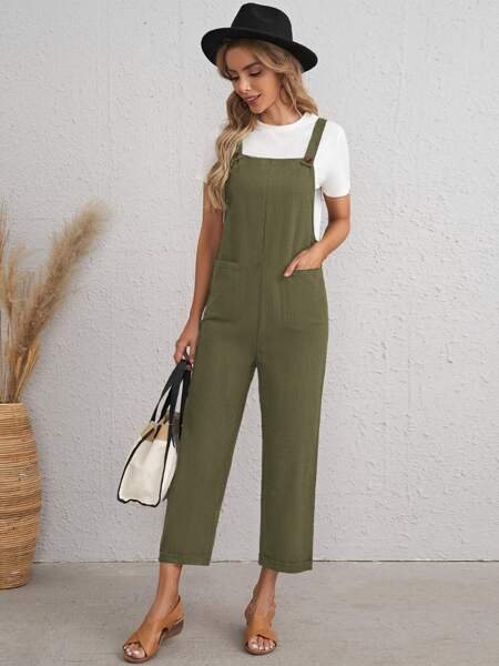 Pocket Front Overalls Without Top