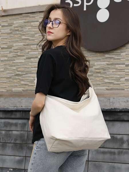 Large Capacity Canvas Hobo Bag