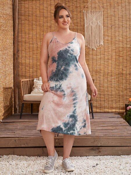 Plus Tie Dye Cami Dress