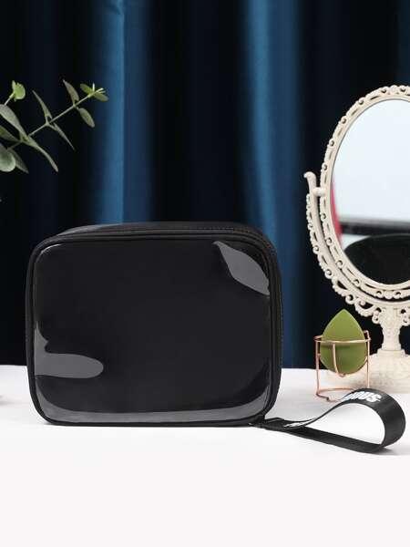 Clear Square Makeup Bag
