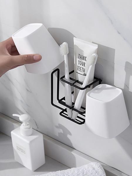 1pc Random Wall Mounted Multifunction Toothbrush Rack