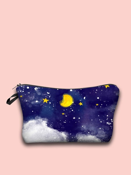 Star & Moon Zipper Makeup Bag