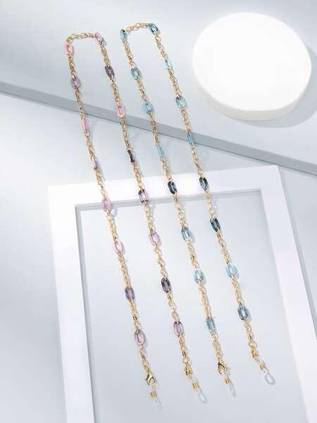 2pcs Geometric Decor Glasses Chain