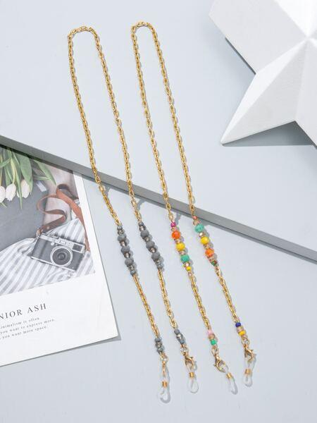 2pcs Crystal Decor Glasses Chain