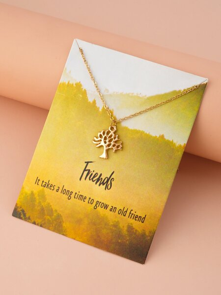 Tree Charm Necklace
