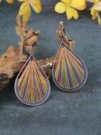 Colorblock Water-drop Earrings