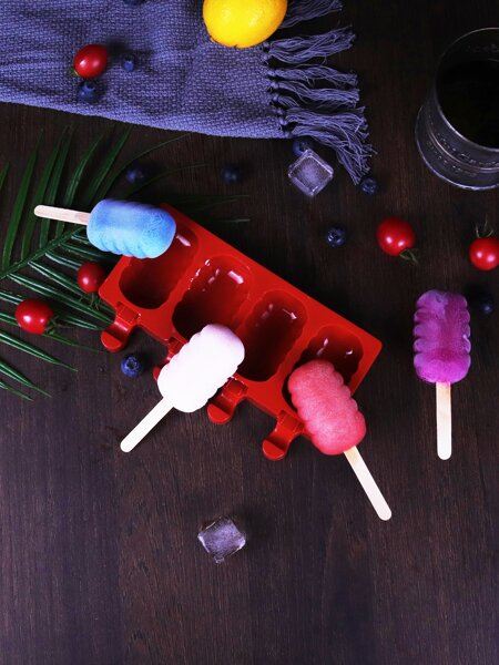 1pc 4 Grid Popsicle Mold