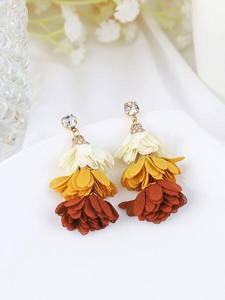 Tiered Petal Design Earrings