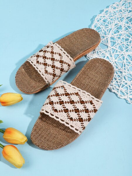 Quilted Hollow Out Slides