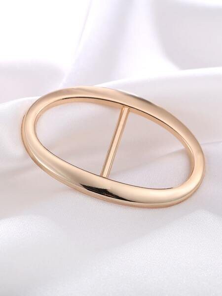Oval Scarf Buckle Ring