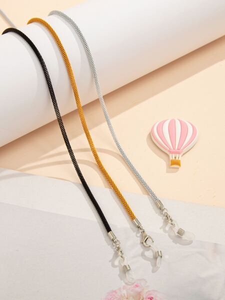 3pcs Solid Face Mask Chain