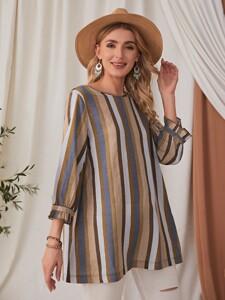 Striped Longline Blouse
