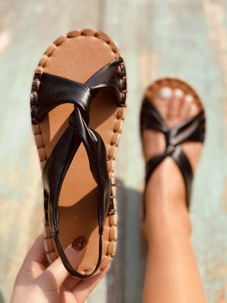 Twist Espadrille Flat Sandals